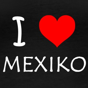 I Love Mexico - Langarmet øko-T-skjorte for kvinner