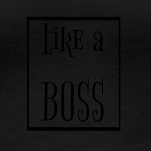 like a boss - Frauen Bio-Langarmshirt
