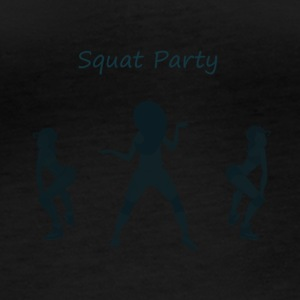 Squat party blue - T-shirt manches longues bio Stanley & Stella Femme