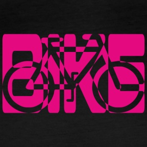 bike combined pictogram bicycle pink - Women's Organic Longsleeve Shirt by Stanley & Stella