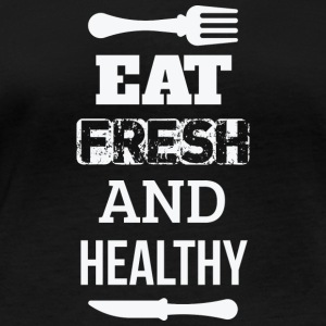 Eat fresh and healthy - eat fresh and healthy - Women's Organic Longsleeve Shirt by Stanley & Stella
