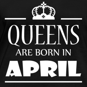 Queens are born in April - Women's Organic Longsleeve