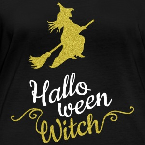 Halloween Witch - Glitter Gold - Women's Organic Longsleeve Shirt by Stanley & Stella