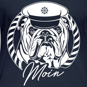 ENGLISH BULLDOG MOIN - Frauen Bio-Langarmshirt