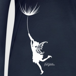 From the wind blown fairy motif with Pusteblumen seed - Women's Organic Longsleeve