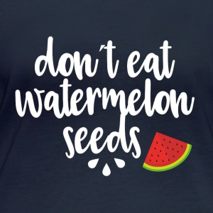 Dont eat watermelon seeds - white - Women's Organic Longsleeve