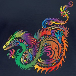 colorful dragon - Women's Organic Longsleeve Shirt by Stanley & Stella