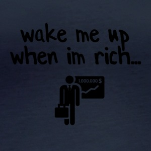 Wake me up when I am rich - Women's Organic Longsleeve Shirt by Stanley & Stella
