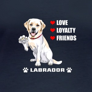 Hunde T Shirt | Labrador - Love - Loyalty - Friend - Frauen Bio-Langarmshirt