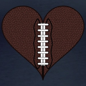 American Football Heart - Women's Organic Longsleeve Shirt by Stanley & Stella