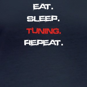 eat sleep repeat TUNING - Women's Organic Longsleeve Shirt by Stanley & Stella
