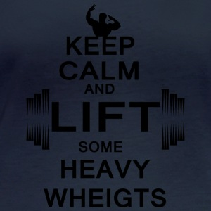 KEEP CALM lift some heavy weights - Frauen Bio-Langarmshirt von Stanley & Stella