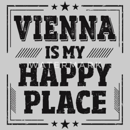 Cool Witzig Süß Wien Sprüche Tasse Shirt Geschenk Hoodie Kleid Grau Meliert