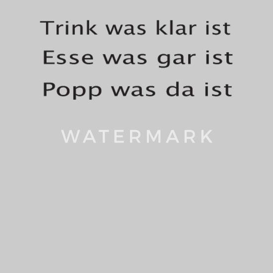 Trink Esse Poppe Lustige Anmache Spruch Für Party Hoodie Kleid Grau Meliert