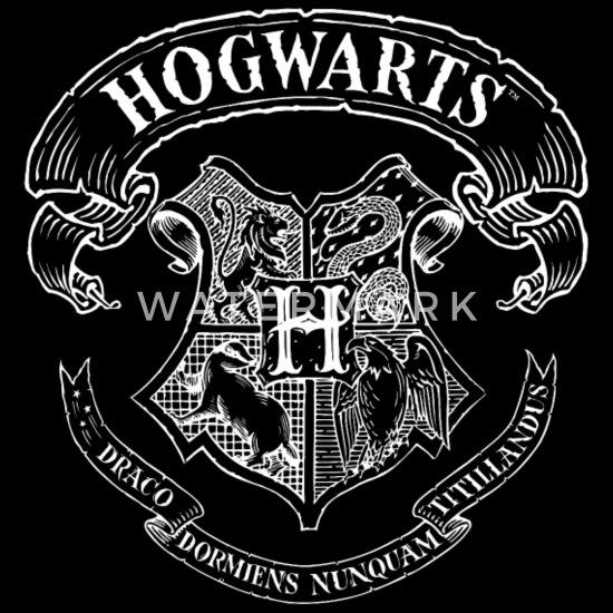 One size Schwarz Harry Potter Hogwarts Wappen Zeichnung