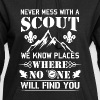 Never mess with a Scout no one will find you - Sweat-shirt à capuche long Femme