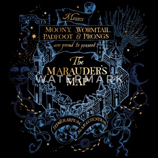 Harry Potter The Marauder\'s Map Frauen Hoodiekleid   Spreadshirt