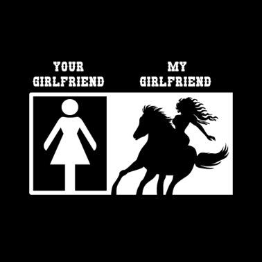 Freundin reitet meinen Freund