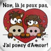 Je Peux Pas, J'ai Poney d'Amour - Badge grand 56 mm