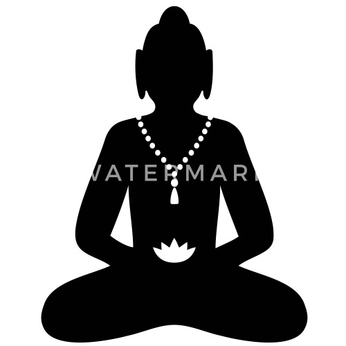 Buddha Meditation Buddhismus Symbol Buttons Gross Spreadshirt