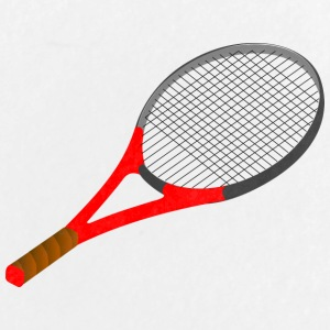 raquette de tennis - Badge grand 56 mm
