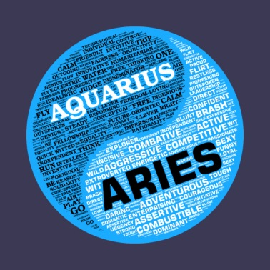 Aquarius Zodiac Sign Astrology Universe Text T Men's Premium T-Shirt - white
