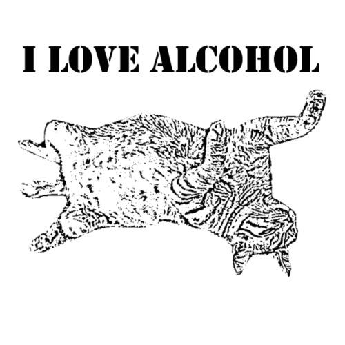Betrunkene Katze Ich Liebe Alkohol Spruche Frauen Poloshirt