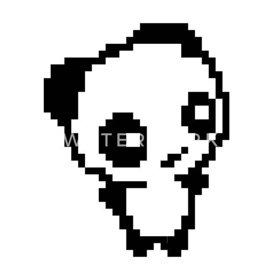 Ours Petit Panda Ours Mignon Petit Pixelart Pixel Polo Femme