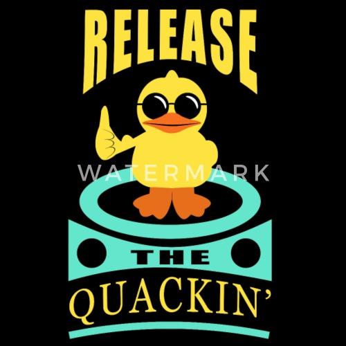 Lustige Ente Quak Cooles Entchen Geschenk Duck Fun Frauen Poloshirt