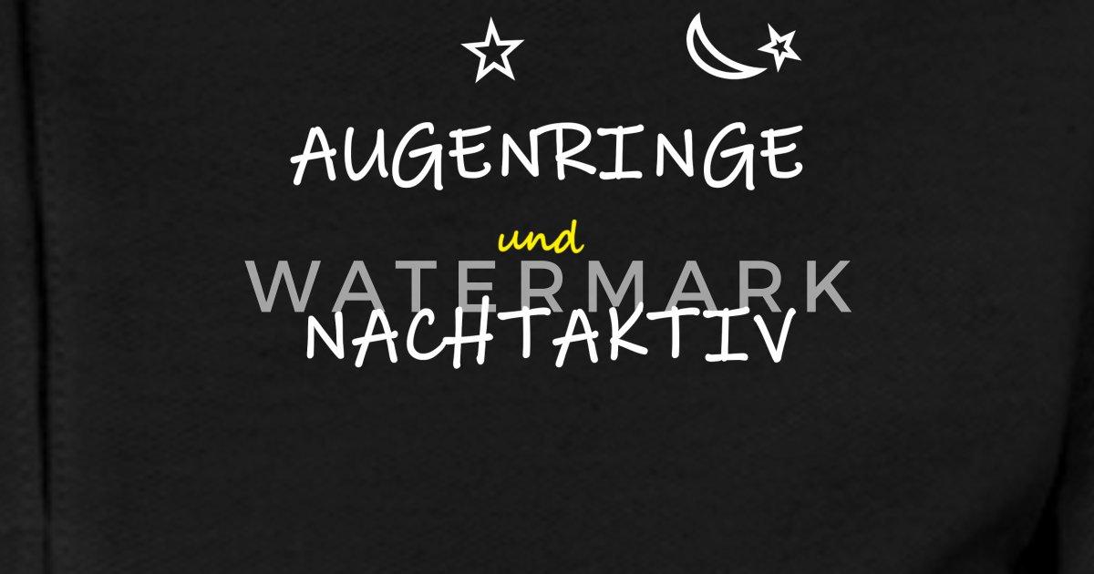 Augenringe Und Nachtaktiv Humor Spruch Frauen Poloshirt