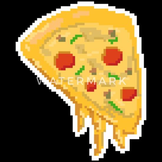 Pizza Pixel Pixelisé Cadeau Gamer Nourriture De Jeu Womens Polo Shirt Noir