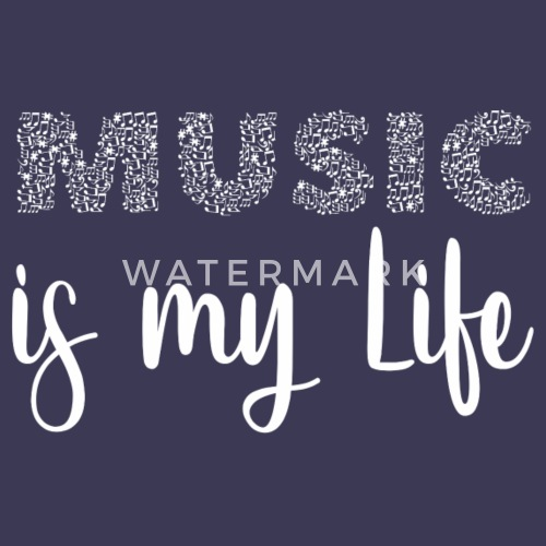 Music Is My Life Konzert Und Festival Shirt Frauen Poloshirt