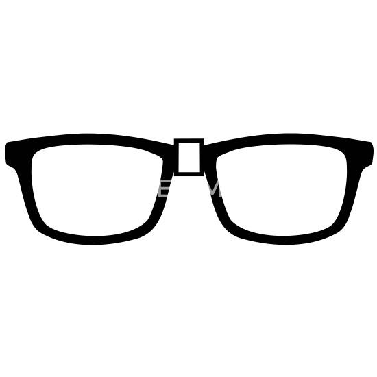 4945791c8548 nørd briller - Buttons mellemstor. Foran. Motiv