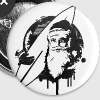 Santa Claus Grunge Graffiti  - Buttons mittel 32 mm