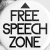 free speech zone - Buttons medium 32 mm