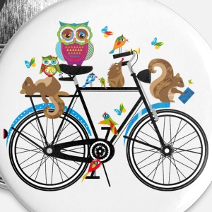 forest animals on a bike