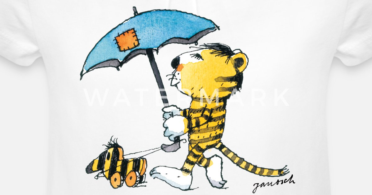 Janosch Kleiner Tiger Tigerente Mit Schirm Mädchen T Shirt Mit Raffung Spreadshirt