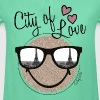 Smiley World Paris City Of Love - T-shirt à fronces au col Fille