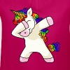 Unicorn Dabbing Unicorn T-Shirt - Girl's T-Shirt with Ruffles