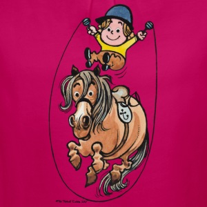 Thelwell Funny Rope Jumping Horse And Rider