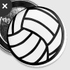 Volley-ball - Badge petit 25 mm