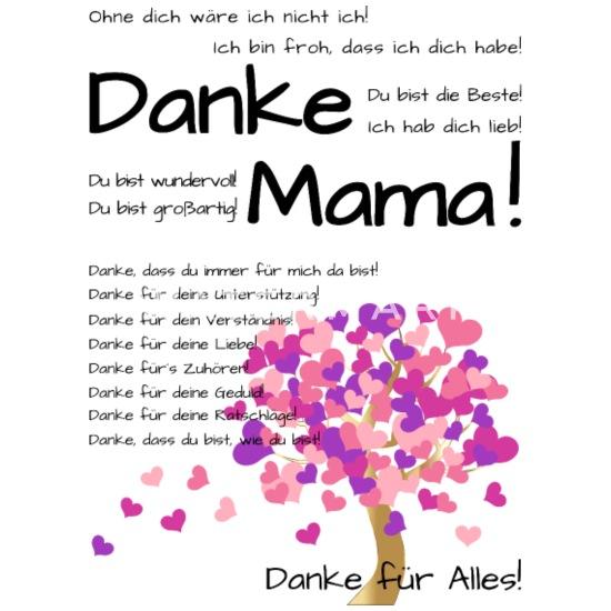Danke Mama Hab Dich Lieb Zum Muttertag Buttons Klein Spreadshirt