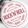 100% Rock 'n' Roll Stamp - Buttons klein 25 mm