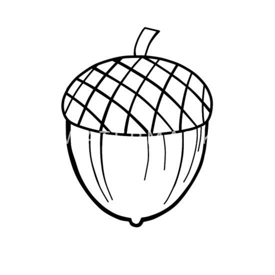 Czarny żołądź (okładki, torby, kubki itp.) Małe przypinki