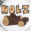 Holz - Buttons klein 25 mm
