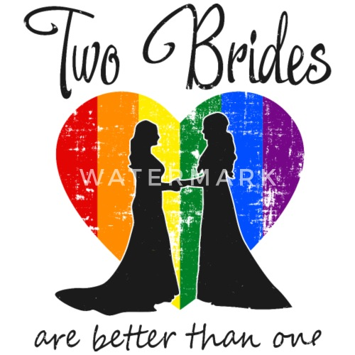 Lesben Hochzeit Braute Two Brides Lgbt Geschenk Buttons Klein