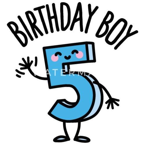 Birthday Boy Geburtstag Junge 5 Jahre Alt Buttons Klein Spreadshirt