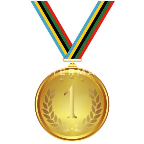 Gold Medaille Sieger Gewinner Deutschland schwarz rot gold Kindergeburtstag