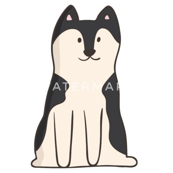 Husky Hund Clipart Welpe Herrchen Geschenk Buttons Klein 25 Mm 5er Pack Weiß