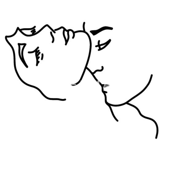 Den kuss hals auf Den Hals